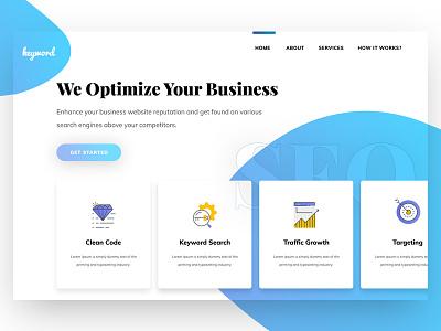 SEO   Landing page clean minimal web website ppc landingpage banner seo