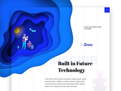 Drone game - landing page responsive technology creative minimal website web illustration game drone landignpage