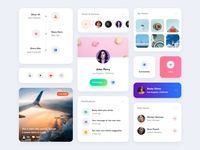 Card UI Kit - Light Layout