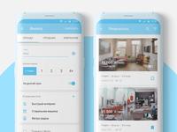 Rent app mobile concept — filtration