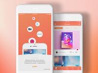 Insiration mobile app concept
