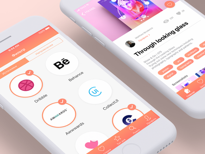 Insiration mobile app filter results tags filter design concept iphone ios inspiration ui ux mobile app
