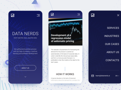 Data Nerds Mobile geometry iphone design adaptive technology interface data machine learnign ui ux mobile