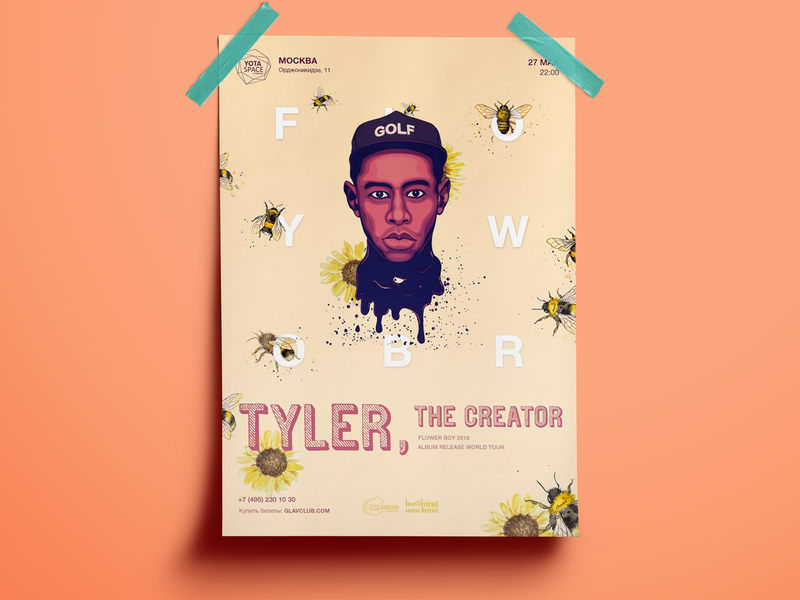 Tyler, the Creator world tour poster concept vol.2 tyler tyler the creator rap musician poster event poster performance event