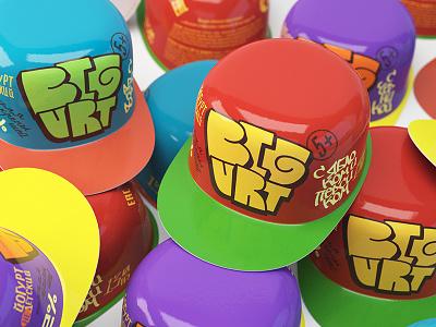 Bigurt rap cape colore logotype logodesign branding packaging packagedesign lettering child children yogurt