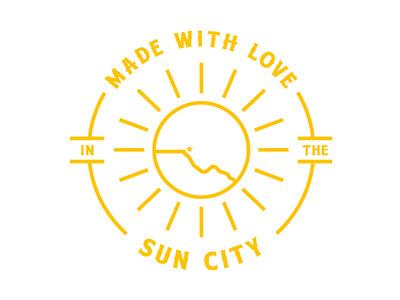 Sun City illustration suncity elpaso illustrator texas design badge graphic design