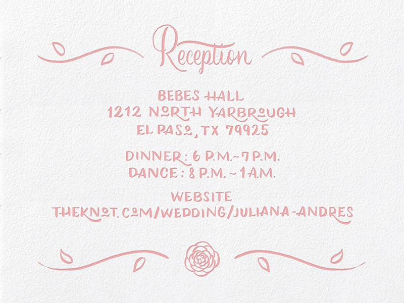 Julieandy reception final letterpress dribbble