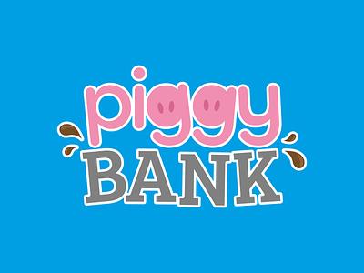 Piggy Bank Logo logodesign mud pink bank money piggy bank piggybank pig logo