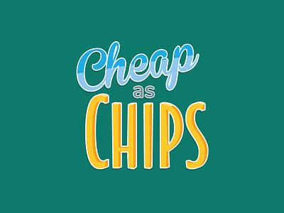Cheap as Chips Logo logo design branding logodesign logo chips cheap