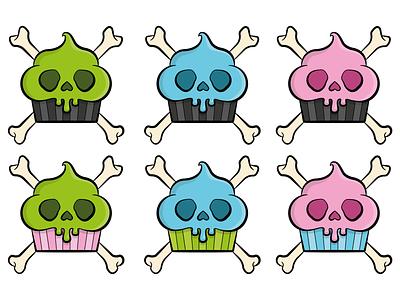 Greedy Rascals Logo - Colour Experiments skull and crossbones illustrator branding brand cake skull logodesign logo colour rascals greedy
