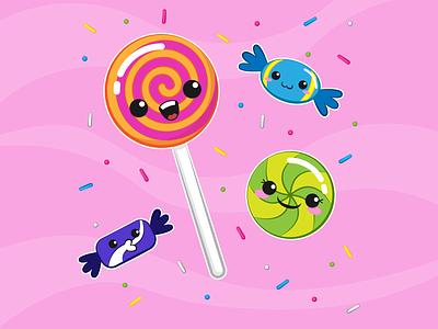 Sugar follow digital art adobe illustrator food cartoon cute kawaii candy sugar diet