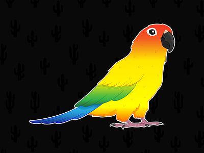 Sun Conure drawing adobe illustrator animal cute doodle sun conure digital art illustrator adobeillustrator bird parrot conure