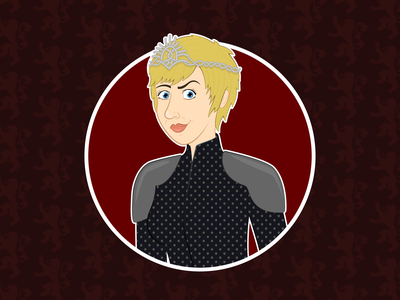 cersei lannister cartoon characters woman fan art queen game of thrones lannister cersei