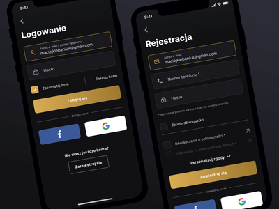 PWA - Login & Register register form app ux design mockup pwa register login mobile rwd ui