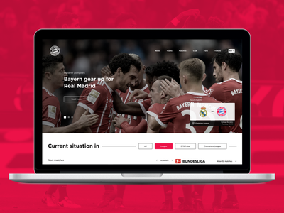 Bayern Munich | Website concept sport football website ux ui rwd mockup design