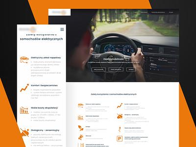 Rental car   Electromobility website web responsive rwd mobile contrast icons design ui benefits electromobility landing page car buy car rental