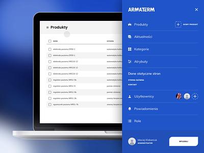 Navigation bar   Admin Panel web app web app after effects products blue list ux ui mouse events menu nav navigation bar admin panel panel admin animation website design mockup