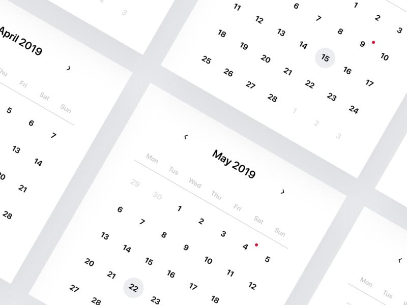 🗓 Responsive UI Calendar 2019 🗓