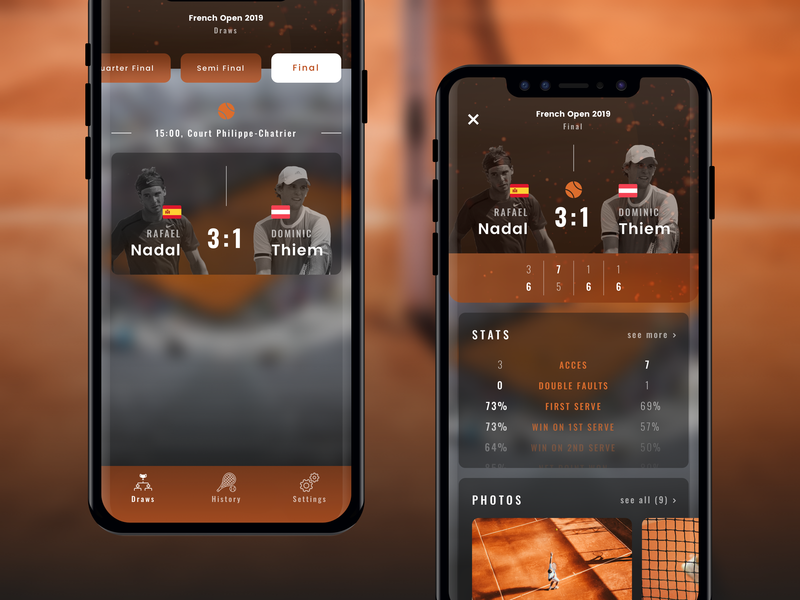 French Open App | Concept