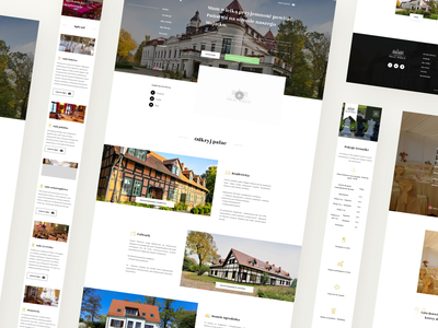Pałac Wiejce | Website redesign hotel travel rwd mobile web website ui design