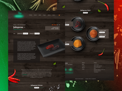 Producer of chili peppers | Concept cooking food packshots concept redesign peppers rwd web website ui design