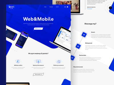 Manuco Web&Mobile | Website mockup redesign poland design rwd web website technology company
