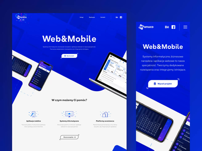 Responsive Homepage of Manuco site
