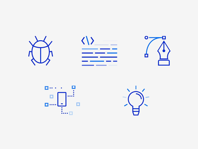 SVG animations web anim rwd website mobile branding svg animation development code idea bug animation design svg vector icons
