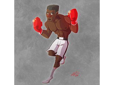 Ali cassius clay muhammed ali character design ali boxe wacom photoshop digital illustration