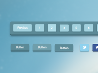 Freebie: 3D Pagination and Buttons (with PSD)