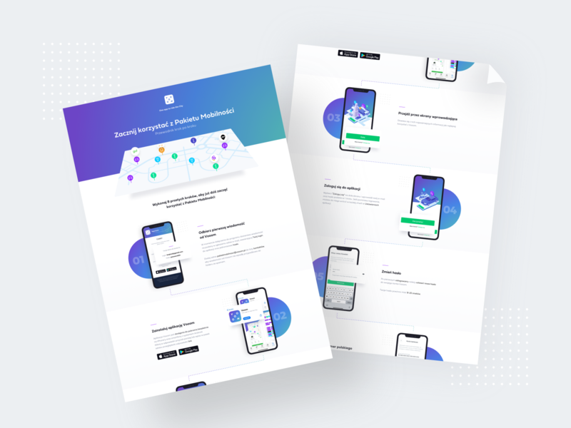 Vooom – onboarding doc ios android mobile presentation pin gradient application app ui document onboarding