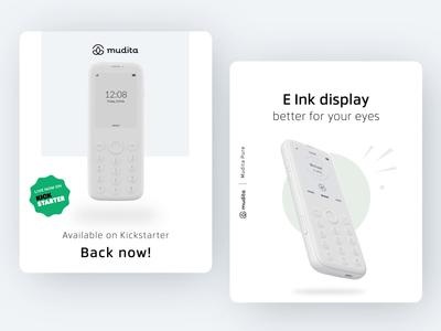 Mudita Kickstarter Ads