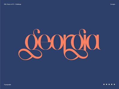 Georgia of course logo ui ux illustration typography vintage identity branding symbol logotype