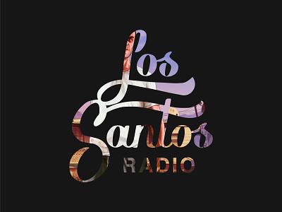 Los Santos Radio icon gtav gta ux ui branding logo symbol lettering logo typographylogo lettering typography los santos