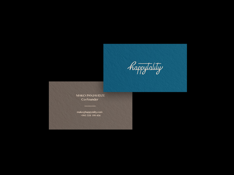 Happytality | Business Card branding and identity ui illustration typography vintage brand and identity identity logotype symbol branding