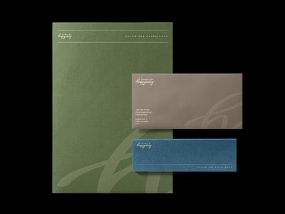 Stationery | Happytality branding and identity ui illustration typography vintage brand and identity identity logotype symbol branding