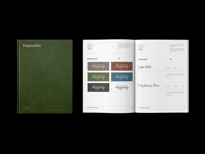 Brand Book | Happytality brand branding and identity ui illustration typography vintage brand and identity identity logotype symbol branding