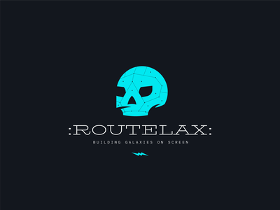 Routelax ui illustration typography brand and identity identity space logo galaxy logo planet logo galaxy branding symbol vintage logotype logo