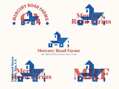 MRF plants variations typography art identity farm symbol logotype