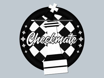 Checkers checkmate checkers draw vector