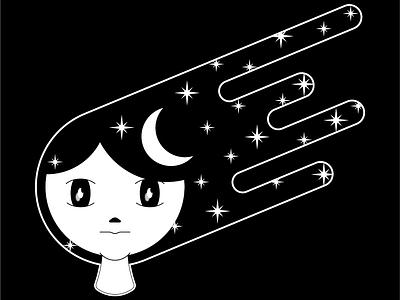 Girl draw design vector illustration