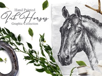 Ink Horses Graphic Art