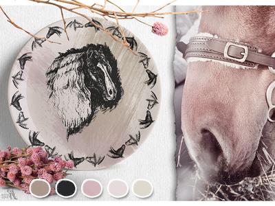 Ink Horses wedding sketch graphic art engraving vector interior horse logo typography design ink creative market scandinavian style painting drawing traditional art illustration art