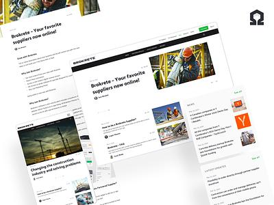 Brokrete: Blog website design constructions ui  ux website responsive article page article news blog design blog post blog web