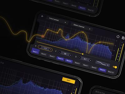 Sound Editing App app design application equalizer sound graph interface ui ux ios app