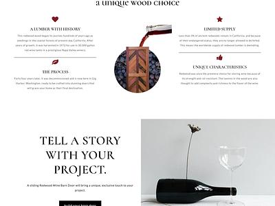 Landing Page | Redwood Wine brand webdesign minimalist elegant landing page design landing page graphic design