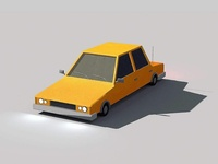 3D car with 2D style