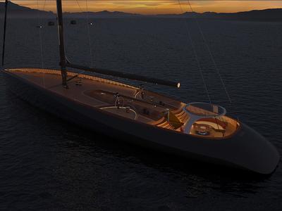 Grafito - sailing yacht graphene wood ocean ship yacht