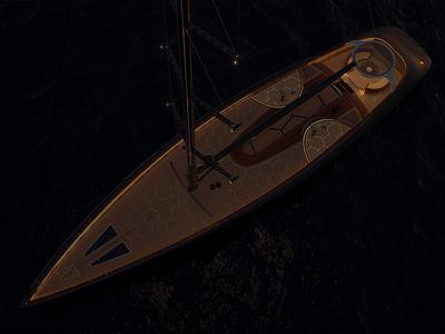 Grafito - sailing yacht wood graphene grafito sea ocean yacht