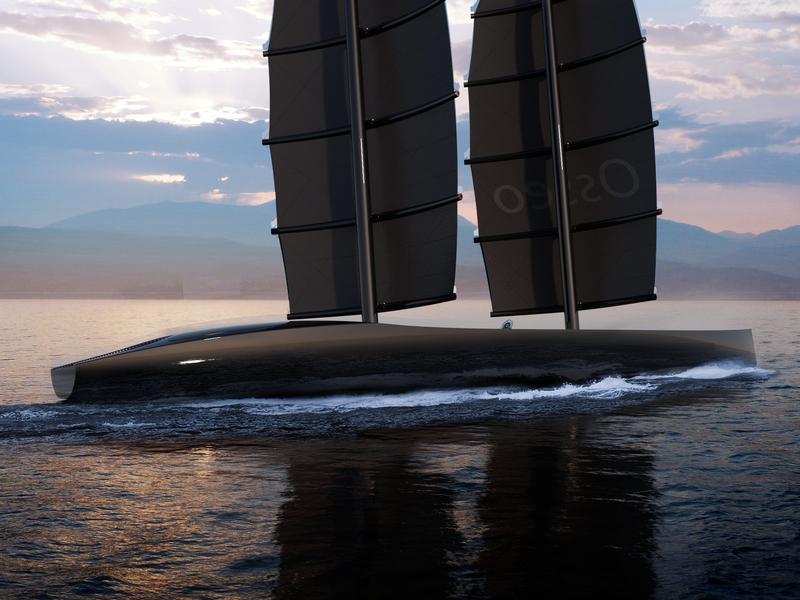 Luxury sailing yacht `Osseo` interior decor luxury black sailing boat sea ocean yacht